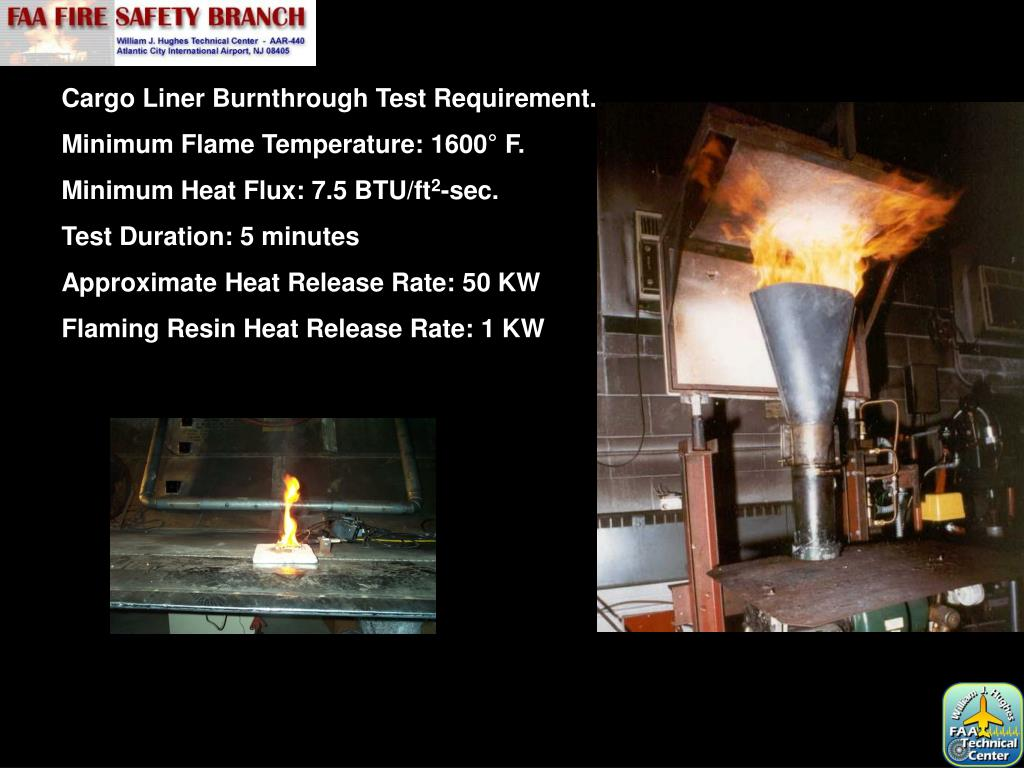 Cargo Liner Burnthrough Test Requirement.