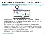 link down solution 2 discard route13