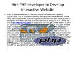 hire php developer to develop interactive website