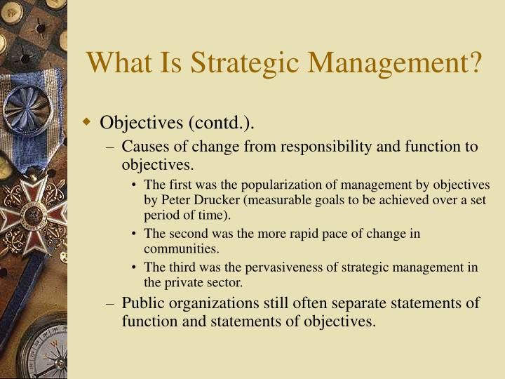 strategic management in the third sector