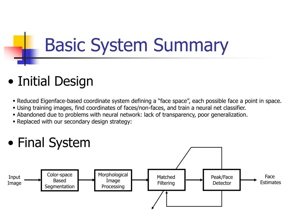 Basic System Summary