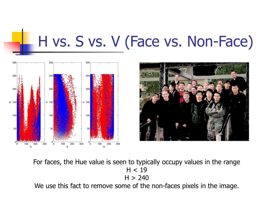 H vs. S vs. V (Face vs. Non-Face)