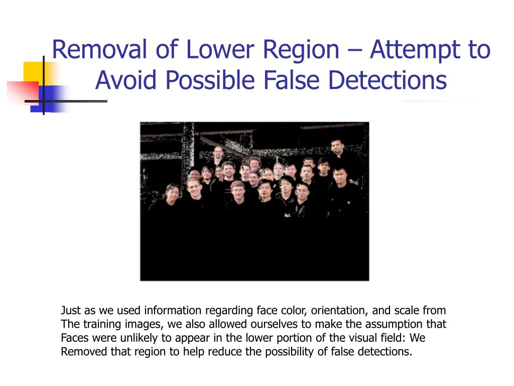 Removal of Lower Region – Attempt to Avoid Possible False Detections