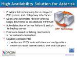 high availability solution for asterisk