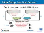 initial setup identical servers