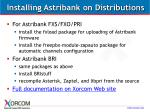 installing astribank on distributions