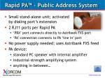rapid pa public address system