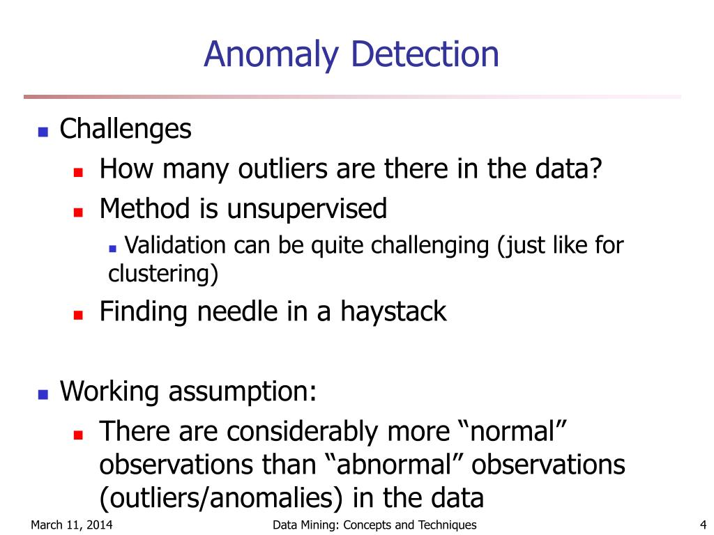PPT - Outlier Discovery/Anomaly Detection PowerPoint
