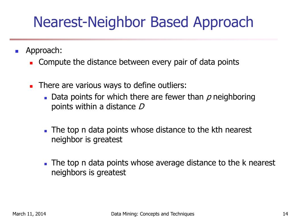 Nearest-Neighbor Based Approach