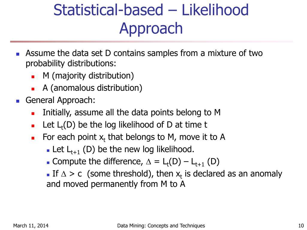 Statistical-based – Likelihood Approach