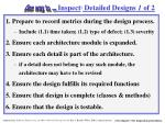 inspect detailed designs 1 of 2
