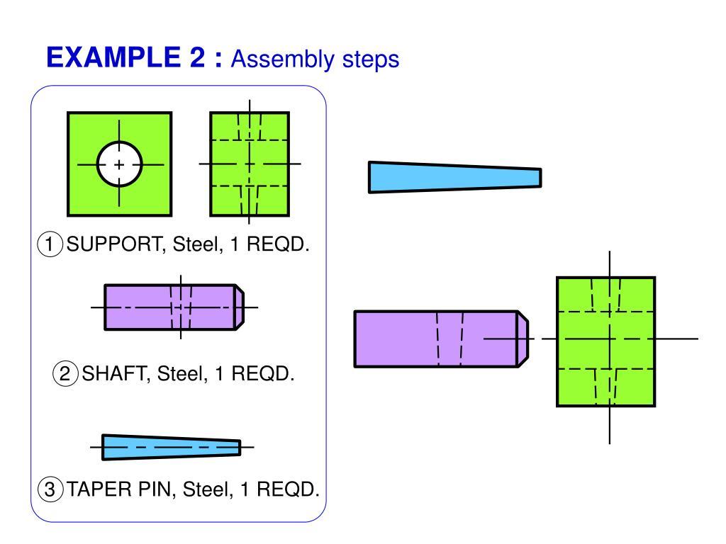3  TAPER PIN, Steel, 1 REQD.