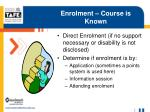 enrolment course is known