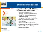 other costs incurred