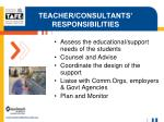 teacher consultants responsibilities
