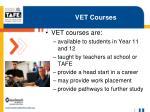vet courses