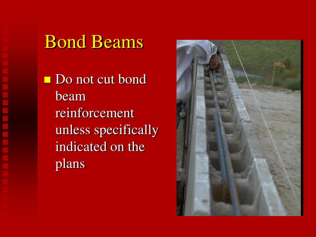 Bond Beams