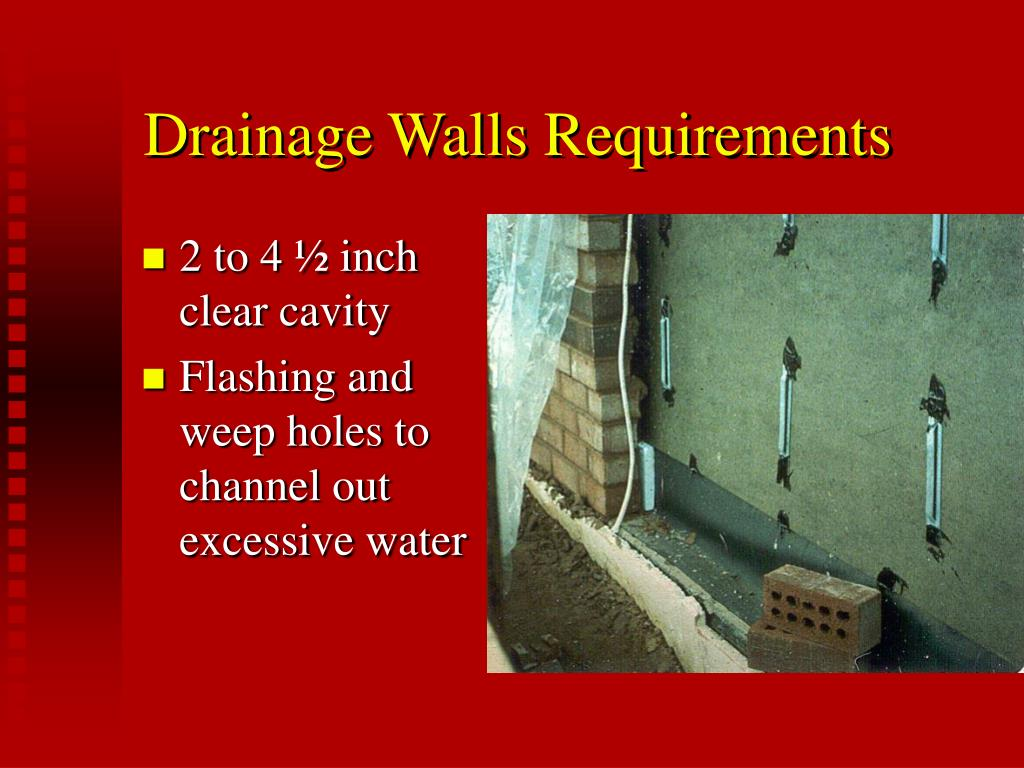 Drainage Walls Requirements