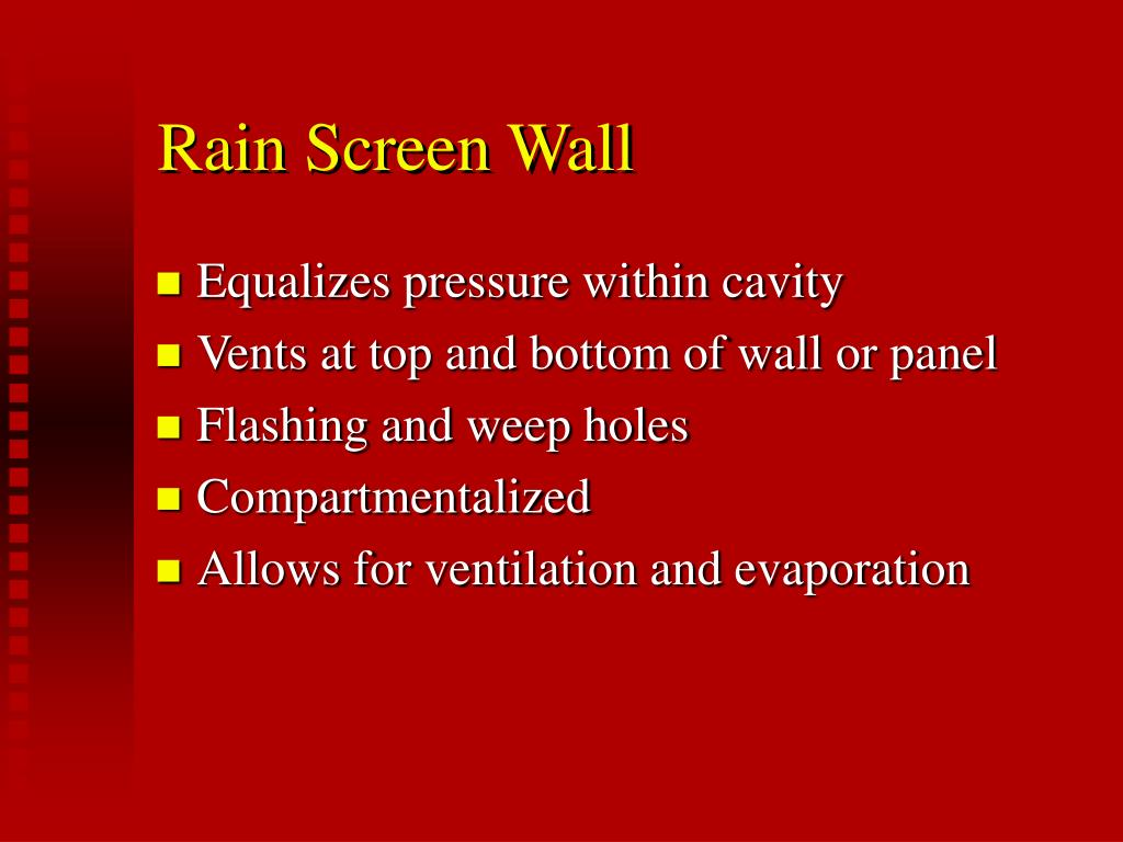 Rain Screen Wall