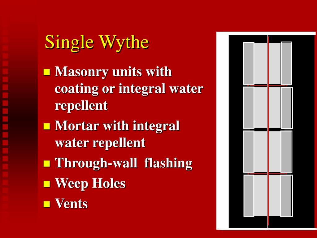 Single Wythe