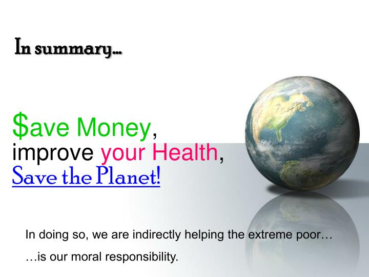 our moral responsibility to provide monetary