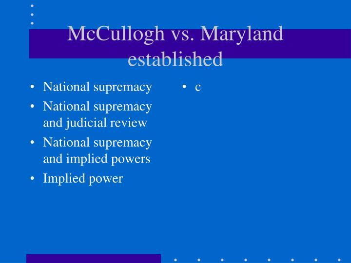 National supremacy