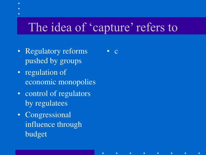 Regulatory reforms pushed by groups