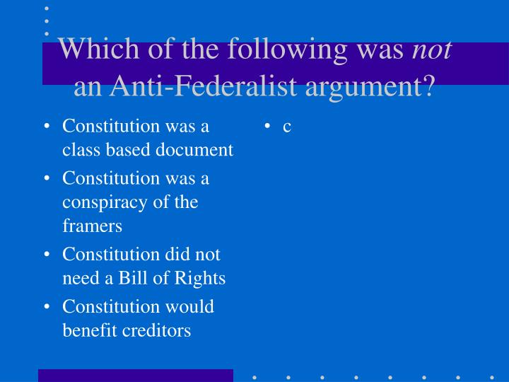 Constitution was a class based document