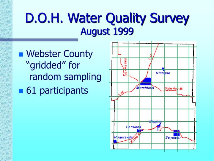 D.O.H. Water Quality Survey