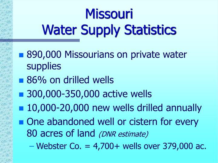 Missouri water supply statistics