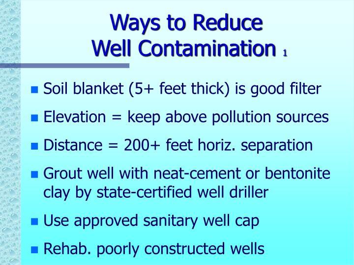 Ways to Reduce