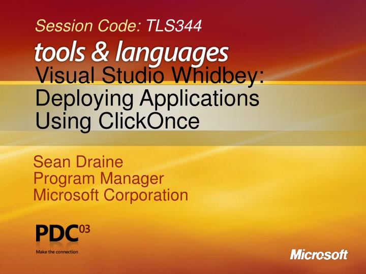 visual studio whidbey deploying applications using clickonce n.