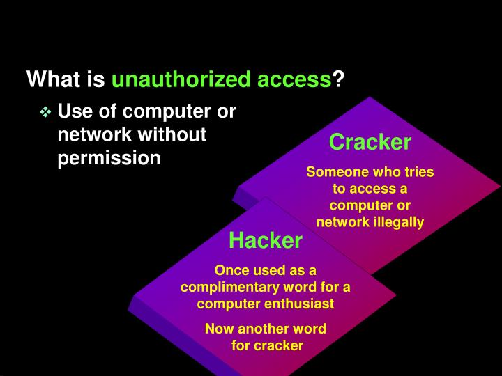 Use of computer or network without permission