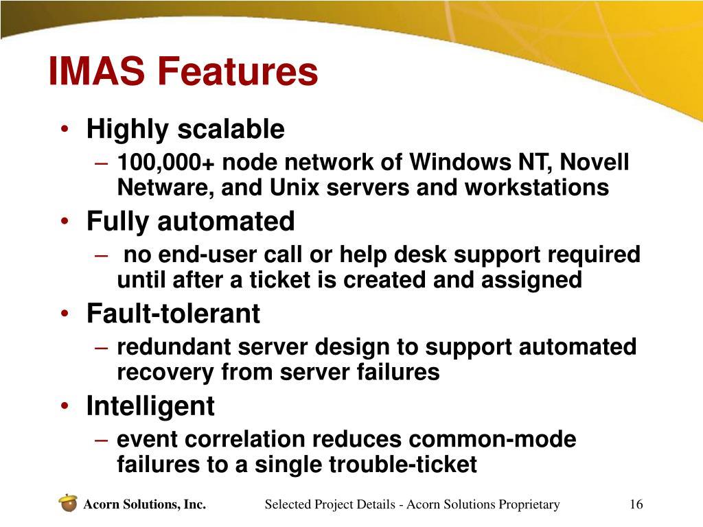 IMAS Features
