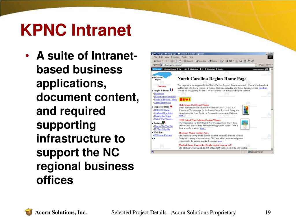 KPNC Intranet