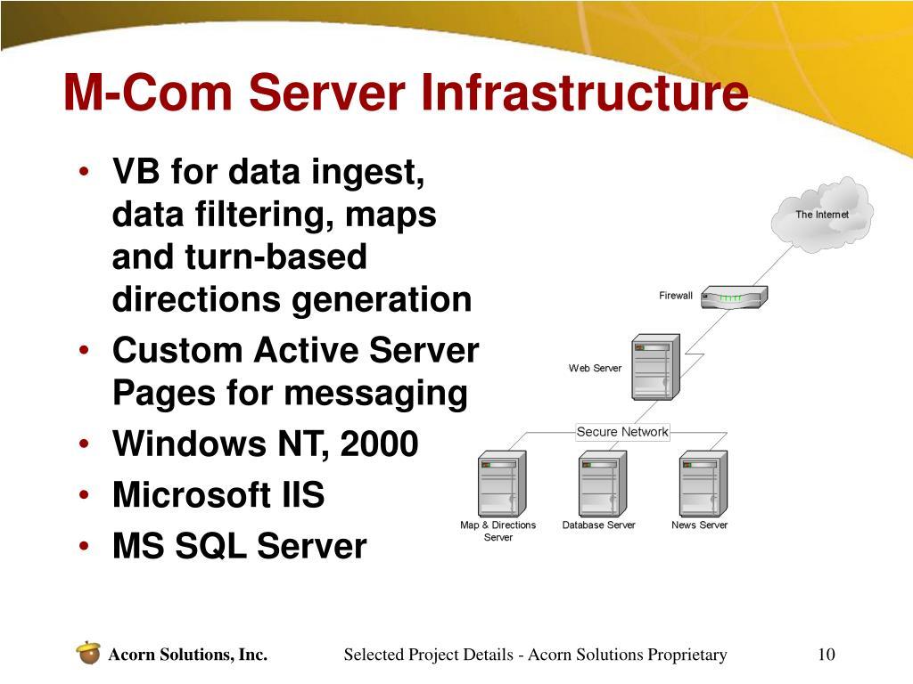 M-Com Server Infrastructure