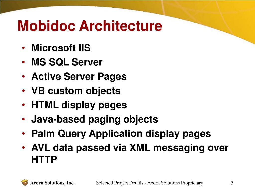 Mobidoc Architecture
