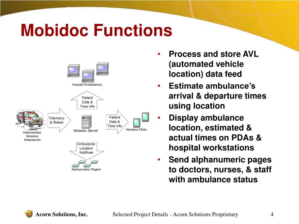 Mobidoc Functions