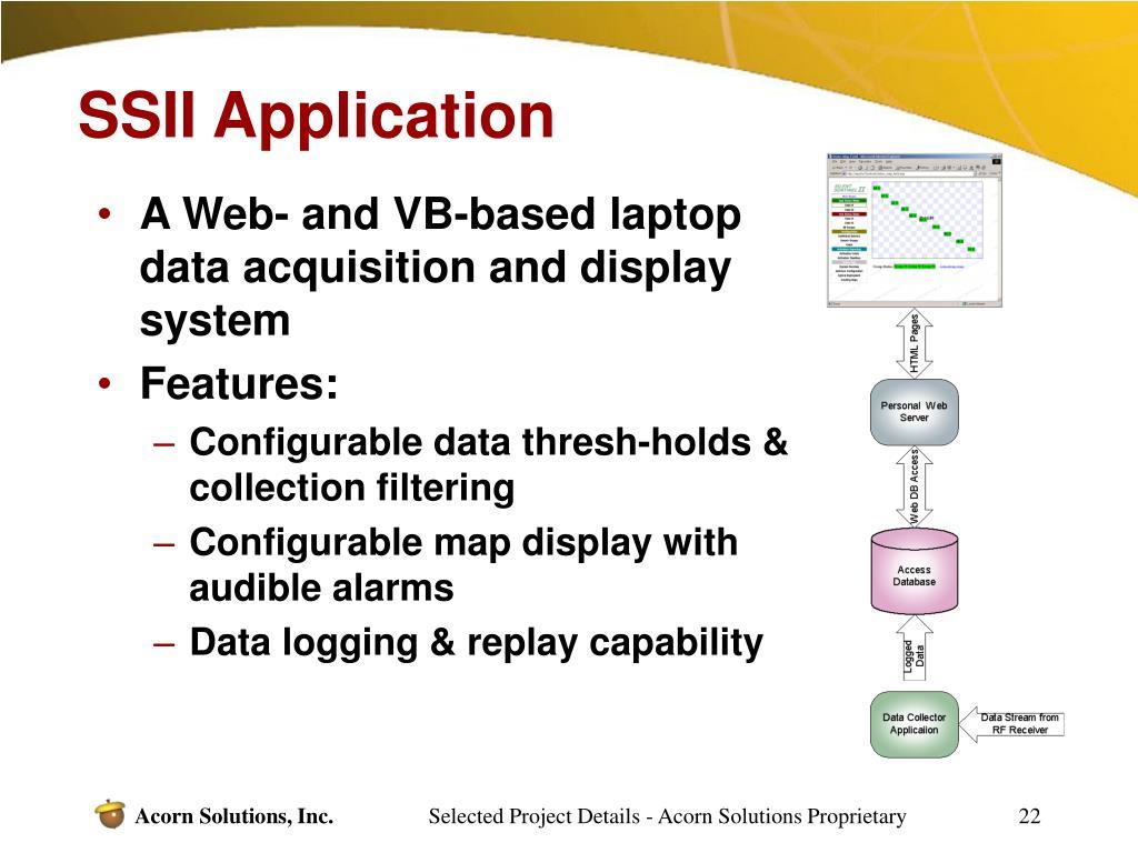 SSII Application