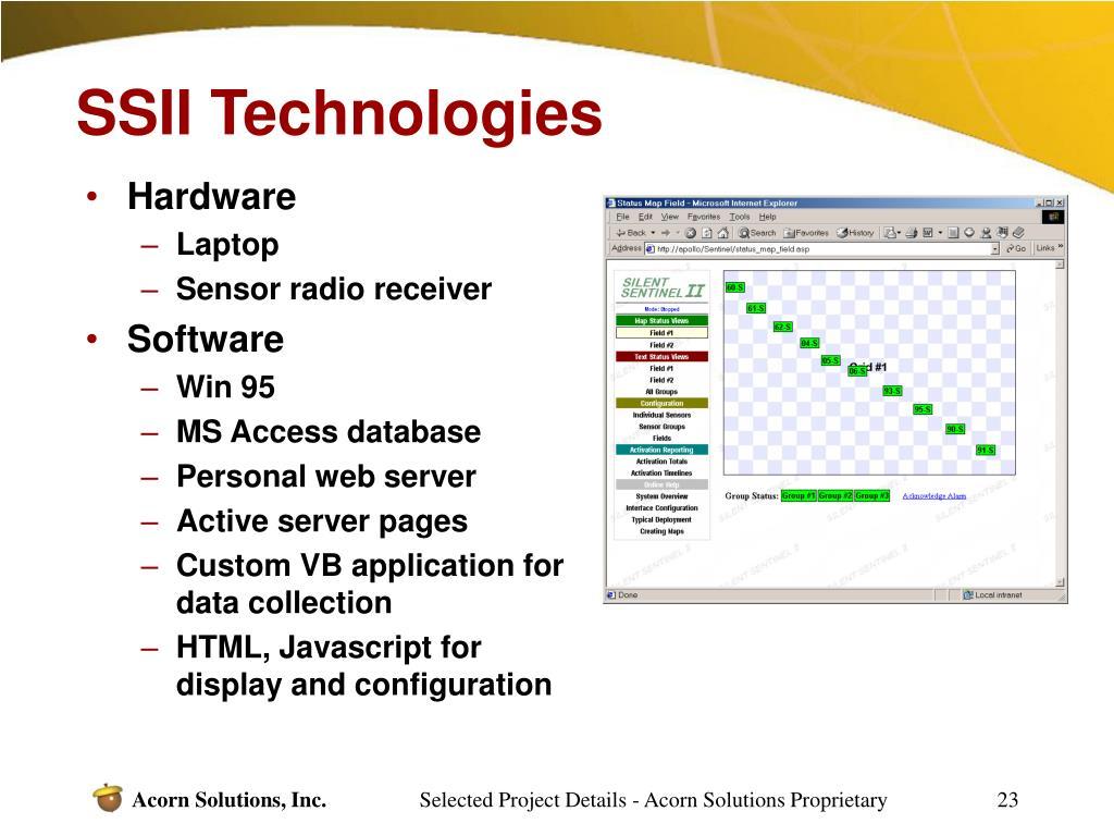 SSII Technologies