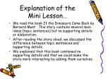 explanation of the mini lesson
