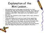 explanation of the mini lesson4