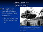 lend lease act march 1941