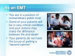 as an emt