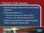 pearson vue access