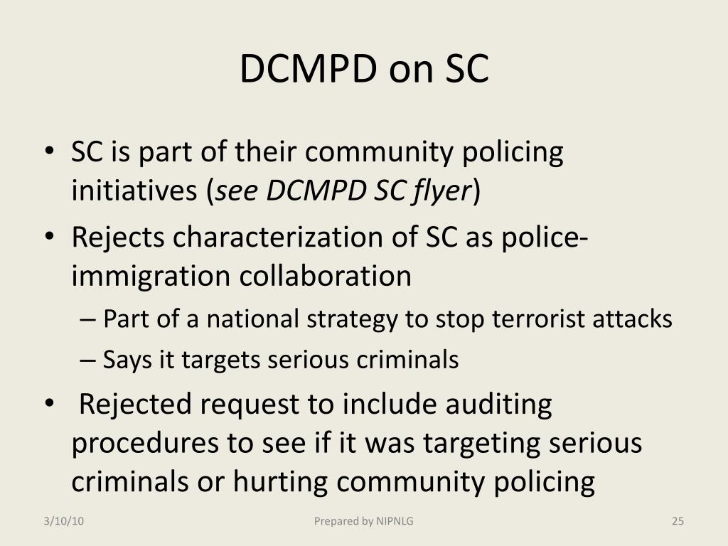 DCMPD on SC