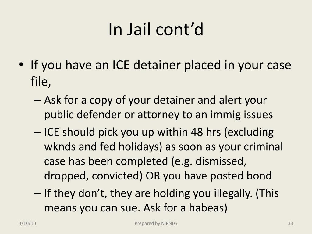 In Jail cont'd