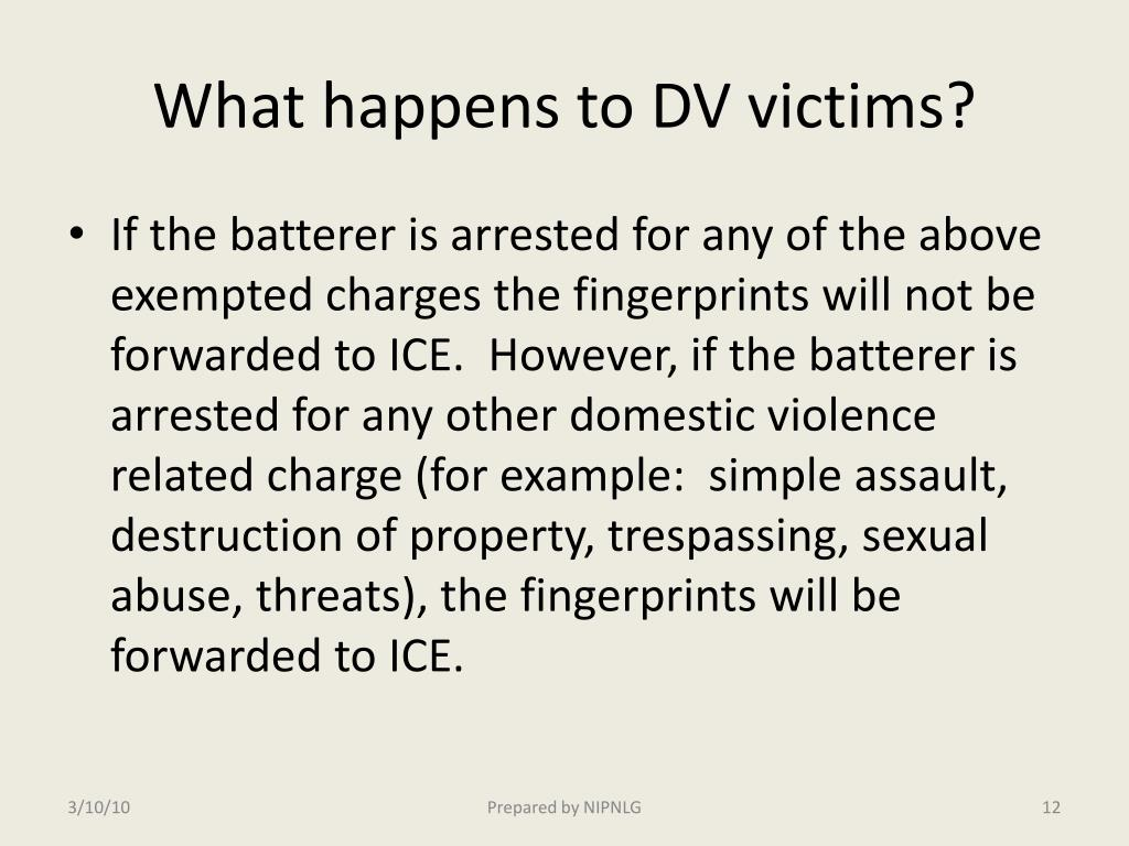 What happens to DV victims?