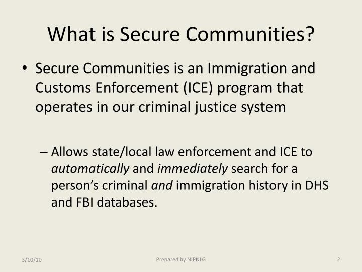 What is secure communities