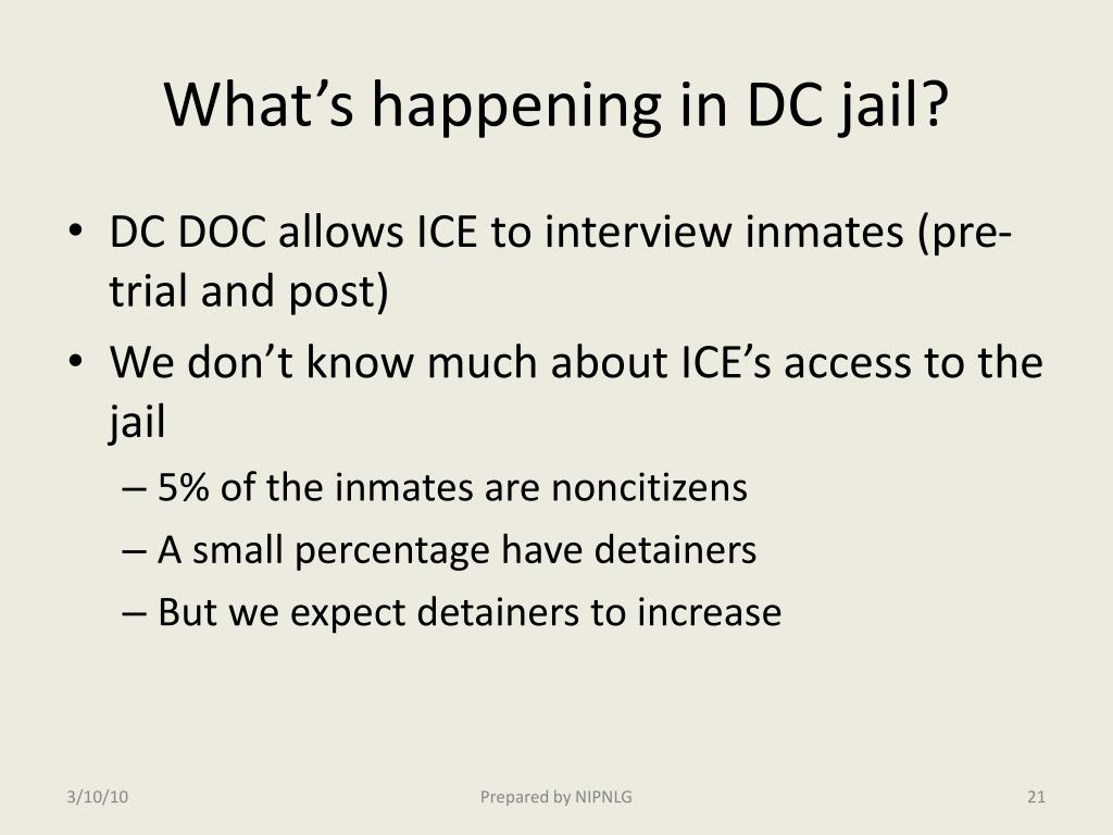 What's happening in DC jail?